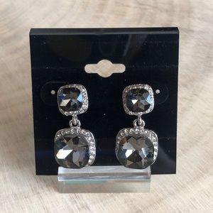 Jewelry - Charcoal Crystal Earrings